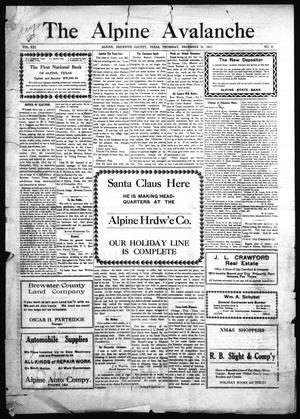 The Alpine Avalanche (Alpine, Tex.), Vol. 21, No. 51, Ed. 1 Thursday, December 21, 1911
