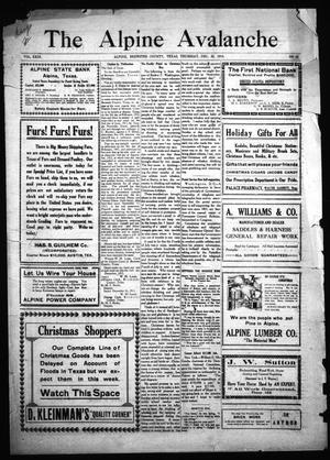 The Alpine Avalanche (Alpine, Tex.), Vol. 23, No. 52, Ed. 1 Thursday, December 25, 1913