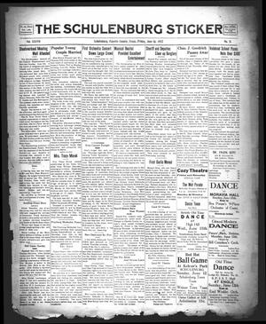 Primary view of object titled 'The Schulenburg Sticker (Schulenburg, Tex.), Vol. 37, No. 31, Ed. 1 Friday, June 10, 1932'.