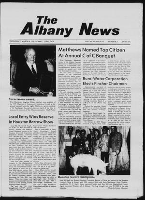 Primary view of object titled 'The Albany News (Albany, Tex.), Vol. 102, No. 37, Ed. 1 Wednesday, March 8, 1978'.