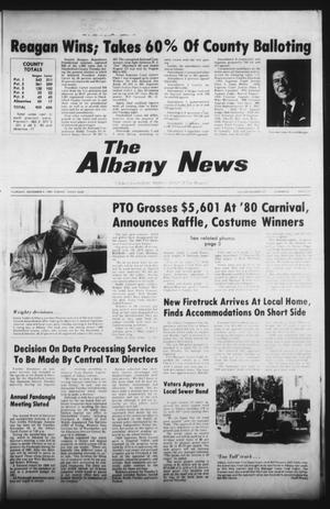 Primary view of object titled 'The Albany News (Albany, Tex.), Vol. 105, No. 20, Ed. 1 Thursday, November 6, 1980'.