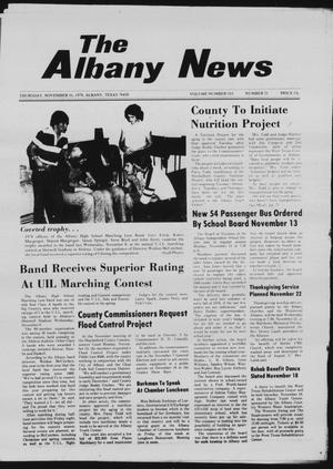 Primary view of object titled 'The Albany News (Albany, Tex.), Vol. 103, No. 21, Ed. 1 Thursday, November 16, 1978'.