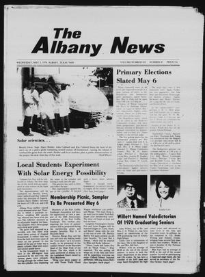 Primary view of object titled 'The Albany News (Albany, Tex.), Vol. 102, No. 45, Ed. 1 Wednesday, May 3, 1978'.