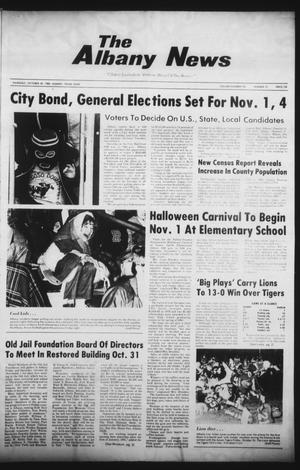 Primary view of object titled 'The Albany News (Albany, Tex.), Vol. 105, No. 19, Ed. 1 Thursday, October 30, 1980'.