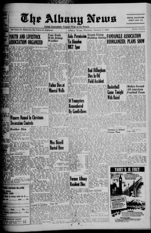 Primary view of object titled 'The Albany News (Albany, Tex.), Vol. 81, No. 19, Ed. 1 Thursday, January 7, 1965'.