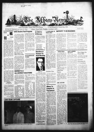 Primary view of object titled 'The Albany News (Albany, Tex.), Vol. 90, No. 16, Ed. 1 Thursday, December 6, 1973'.