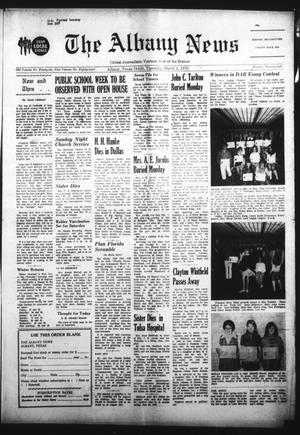 Primary view of object titled 'The Albany News (Albany, Tex.), Vol. 88, No. 28, Ed. 1 Thursday, March 2, 1972'.