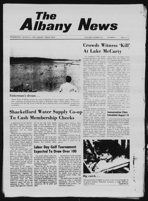 Primary view of object titled 'The Albany News (Albany, Tex.), Vol. 103, No. 6, Ed. 1 Wednesday, August 2, 1978'.