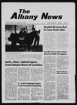 Primary view of object titled 'The Albany News (Albany, Tex.), Vol. 103, No. 36, Ed. 1 Thursday, March 1, 1979'.