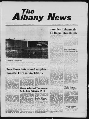 Primary view of object titled 'The Albany News (Albany, Tex.), Vol. 102, No. 33, Ed. 1 Wednesday, February 8, 1978'.