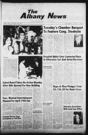 Primary view of object titled 'The Albany News (Albany, Tex.), Vol. 104, No. 41, Ed. 1 Thursday, April 3, 1980'.