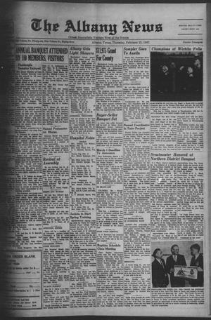 Primary view of object titled 'The Albany News (Albany, Tex.), Vol. 83, No. 26, Ed. 1 Thursday, February 23, 1967'.