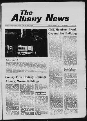 Primary view of object titled 'The Albany News (Albany, Tex.), Vol. 103, No. 22, Ed. 1 Thursday, November 23, 1978'.
