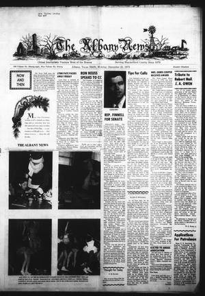 Primary view of object titled 'The Albany News (Albany, Tex.), Vol. 90, No. 19, Ed. 1 Monday, December 24, 1973'.