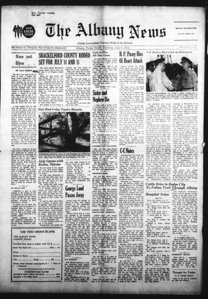 Primary view of object titled 'The Albany News (Albany, Tex.), Vol. 88, No. 46, Ed. 1 Thursday, July 6, 1972'.