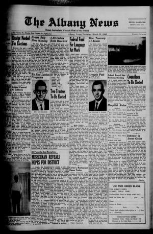 Primary view of object titled 'The Albany News (Albany, Tex.), Vol. 82, No. 31, Ed. 1 Thursday, March 31, 1966'.
