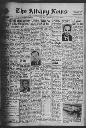 Primary view of object titled 'The Albany News (Albany, Tex.), Vol. 84, No. 32, Ed. 1 Thursday, April 4, 1968'.