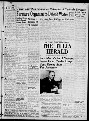Primary view of object titled 'The Tulia Herald (Tulia, Tex), Vol. 37, No. 51, Ed. 1, Thursday, December 19, 1946'.