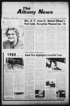 Primary view of object titled 'The Albany News (Albany, Tex.), Vol. 105, No. 28, Ed. 1 Thursday, January 1, 1981'.