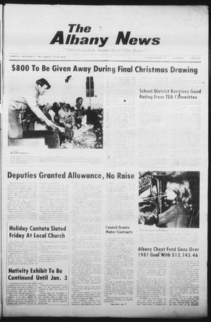 Primary view of object titled 'The Albany News (Albany, Tex.), Vol. 106, No. 26, Ed. 1 Thursday, December 17, 1981'.