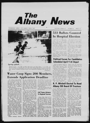 Primary view of object titled 'The Albany News (Albany, Tex.), Vol. 102, No. 41, Ed. 1 Wednesday, April 5, 1978'.