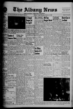 Primary view of object titled 'The Albany News (Albany, Tex.), Vol. 81, No. 29, Ed. 1 Thursday, March 18, 1965'.