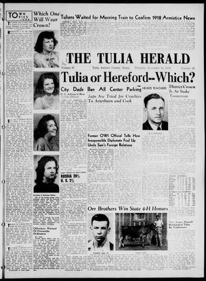 Primary view of object titled 'The Tulia Herald (Tulia, Tex), Vol. 37, No. 46, Ed. 1, Thursday, November 14, 1946'.