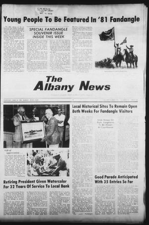 Primary view of object titled 'The Albany News (Albany, Tex.), Vol. 105, No. 52, Ed. 1 Thursday, June 18, 1981'.