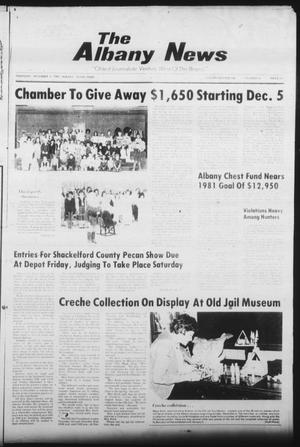 Primary view of object titled 'The Albany News (Albany, Tex.), Vol. 106, No. 24, Ed. 1 Thursday, December 3, 1981'.