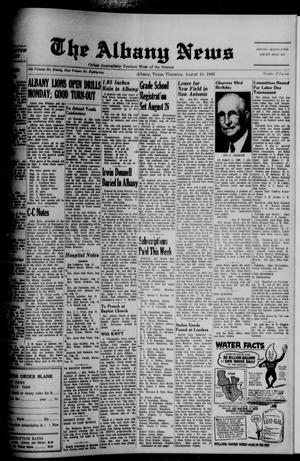 Primary view of object titled 'The Albany News (Albany, Tex.), Vol. 82, No. 51, Ed. 1 Thursday, August 18, 1966'.