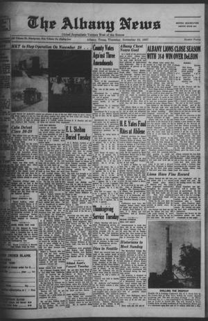 Primary view of object titled 'The Albany News (Albany, Tex.), Vol. 84, No. 12, Ed. 1 Thursday, November 16, 1967'.