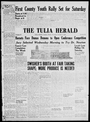 Primary view of object titled 'The Tulia Herald (Tulia, Tex), Vol. 37, No. 40, Ed. 1, Thursday, October 3, 1946'.