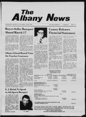 Primary view of object titled 'The Albany News (Albany, Tex.), Vol. 102, No. 38, Ed. 1 Wednesday, March 15, 1978'.