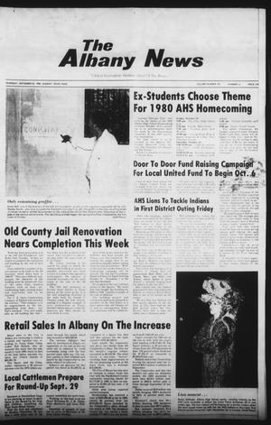 Primary view of object titled 'The Albany News (Albany, Tex.), Vol. 105, No. 14, Ed. 1 Thursday, September 25, 1980'.