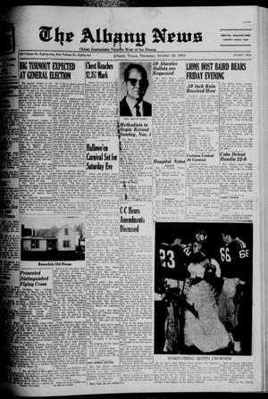 Primary view of object titled 'The Albany News (Albany, Tex.), Vol. 81, No. 9, Ed. 1 Thursday, October 29, 1964'.