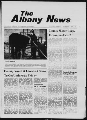 Primary view of object titled 'The Albany News (Albany, Tex.), Vol. 102, No. 35, Ed. 1 Wednesday, February 22, 1978'.