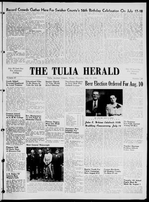 Primary view of object titled 'The Tulia Herald (Tulia, Tex), Vol. 37, No. 29, Ed. 1, Thursday, July 18, 1946'.