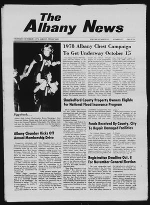 Primary view of object titled 'The Albany News (Albany, Tex.), Vol. 103, No. 15, Ed. 1 Thursday, October 5, 1978'.