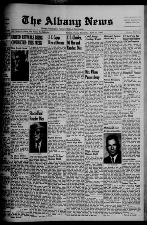 Primary view of object titled 'The Albany News (Albany, Tex.), Vol. 82, No. 34, Ed. 1 Thursday, April 21, 1966'.