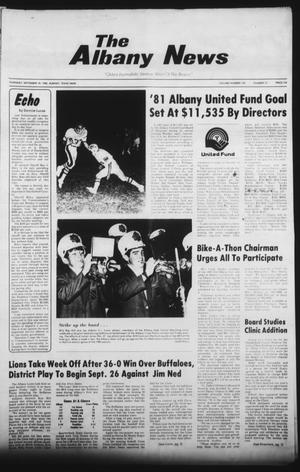 Primary view of object titled 'The Albany News (Albany, Tex.), Vol. 105, No. 13, Ed. 1 Thursday, September 18, 1980'.