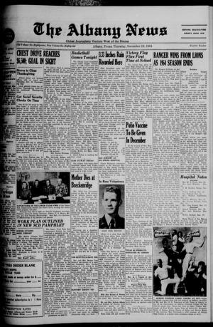 Primary view of object titled 'The Albany News (Albany, Tex.), Vol. 81, No. 12, Ed. 1 Thursday, November 19, 1964'.
