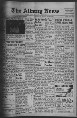 Primary view of object titled 'The Albany News (Albany, Tex.), Vol. 83, No. 27, Ed. 1 Thursday, March 2, 1967'.