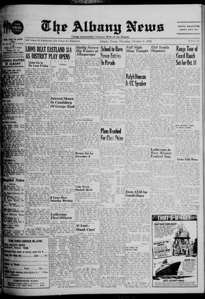 Primary view of object titled 'The Albany News (Albany, Tex.), Vol. 81, No. 6, Ed. 1 Thursday, October 8, 1964'.