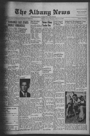 Primary view of object titled 'The Albany News (Albany, Tex.), Vol. 83, No. 29, Ed. 1 Thursday, March 16, 1967'.