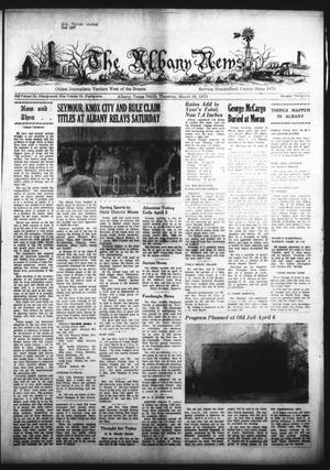 Primary view of object titled 'The Albany News (Albany, Tex.), Vol. 89, No. 32, Ed. 1 Thursday, March 29, 1973'.