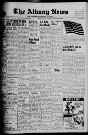 Primary view of object titled 'The Albany News (Albany, Tex.), Vol. 81, No. 11, Ed. 1 Thursday, November 12, 1964'.