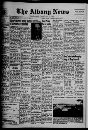 Primary view of object titled 'The Albany News (Albany, Tex.), Vol. 81, No. 48, Ed. 1 Thursday, July 29, 1965'.