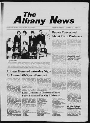 Primary view of object titled 'The Albany News (Albany, Tex.), Vol. 102, No. 39, Ed. 1 Wednesday, March 22, 1978'.