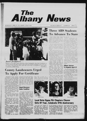 Primary view of object titled 'The Albany News (Albany, Tex.), Vol. 102, No. 44, Ed. 1 Wednesday, April 26, 1978'.