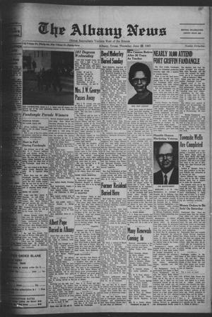 Primary view of object titled 'The Albany News (Albany, Tex.), Vol. 83, No. 44, Ed. 1 Thursday, June 29, 1967'.